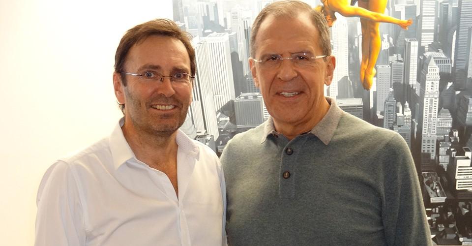 Sergei Lawrow bei Dr. Erich Rembeck