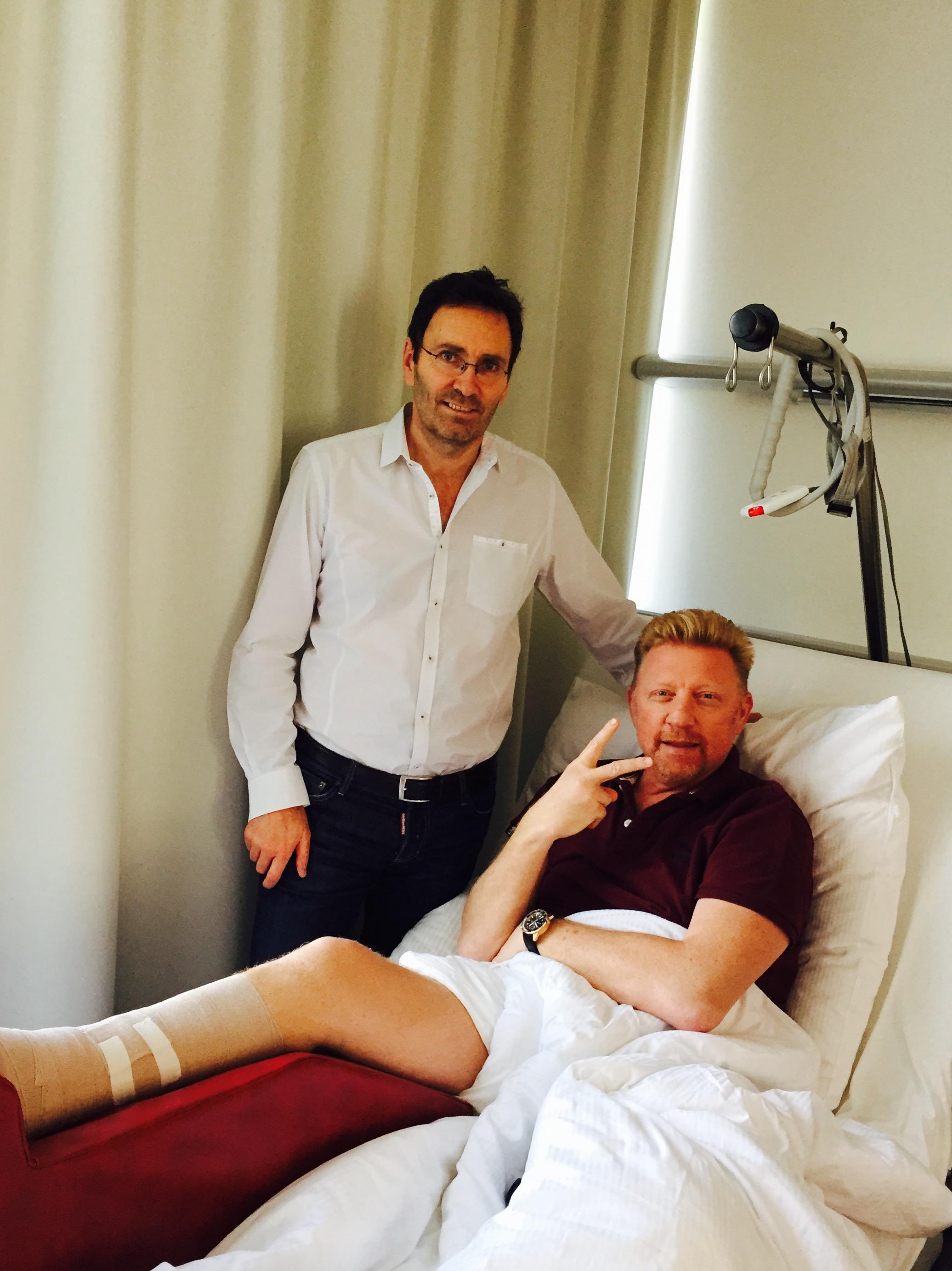 Boris Becker nach OP guter Dinge
