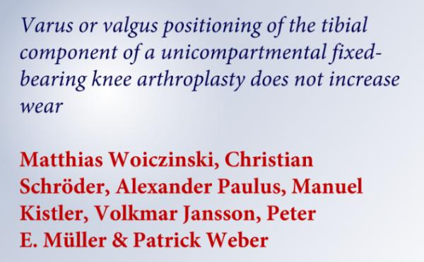 Studie: Kniegelenk-Teilprothese